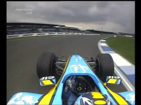 F1 Silverstone 2005 FP2 - Fernando Alonso Onboard Action!