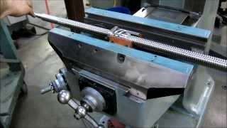 installing a rolled ballscrew set onto a bridgeport mill