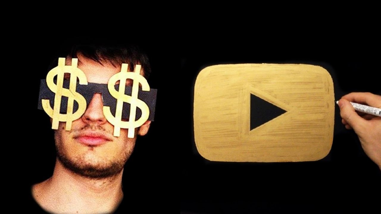 Gold Drawing How To Draw Gold Youtube Play Button 1 One Milion