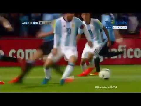 Gol de Messi a Uruguay. Eliminatorias RUSIA 2018. (Relato Rodolfo De Paoli)