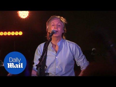 Paul McCartney returns to legendary Cavern Club for surprise gig