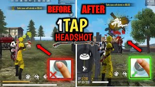 One tap headshot trick free fire auto headshot pro tips and tricks 90% headshot rate and giveaway