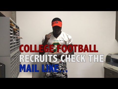 When college football recruits check the mail
