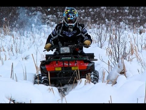 ATV Swamp Thing - '86 Honda TRX 350 Fourtrax In The Snow
