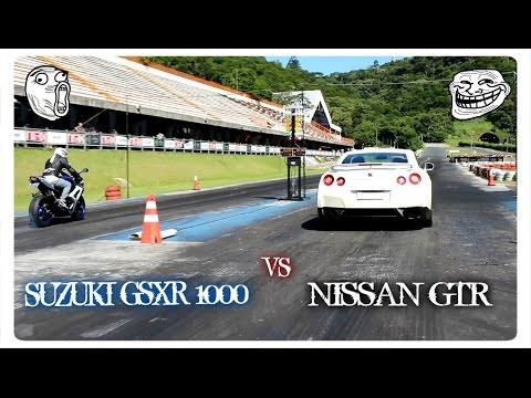 NISSAN GTR 750 CV VS SUZUKI GSXR 1000 / ARRANCADA DE ESPORTIVOS BC