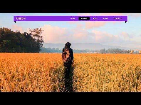 How to Design a Ribbon style Nav | HTML CSS Navigation Bar Tutorial