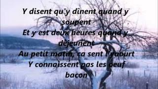 Les maudits français- Lynda Lemay- Lyrics *Destiner a Valentin Mon meilleur ami français*