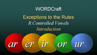 r controlled vowels ar