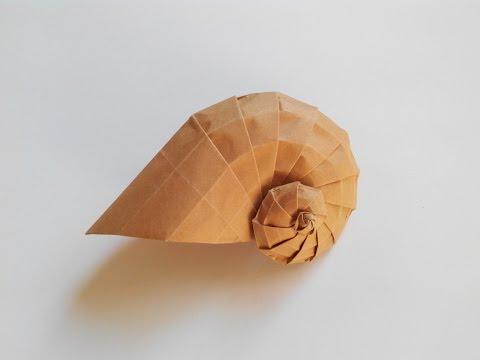 Ракушка оригами, shell origami