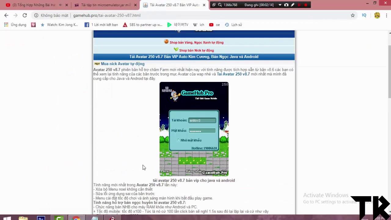 Hướng Dẫn Tải Và Cài Đặt Phần Mềm Giả Lập MicroEmulator Chơi Game Avatar 2D