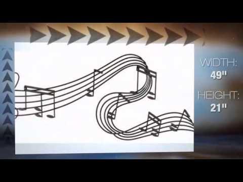 Musical Notes Iron Wall Decor