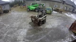 Mini-Ładowarka na Lodzie ?! Zimowo-deszczowe zabawy z Bobcat M371 Skid Steer ! :D