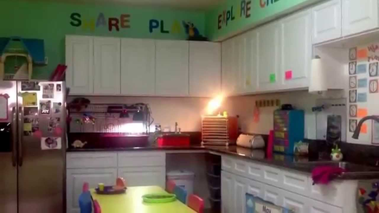 Garage to daycare conversion - YouTube