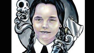 """Wednesday Addams"" Fan Art Speed Painting"