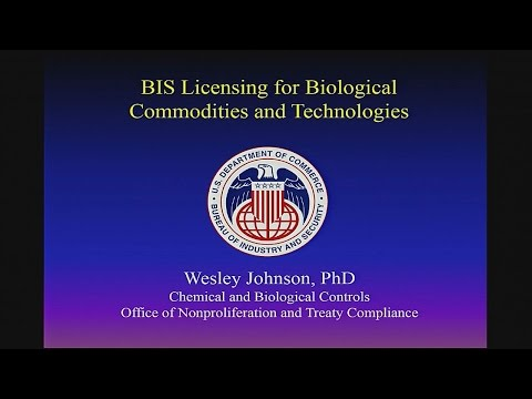 BIS Export Licensing for Biological Commodities and Technolo