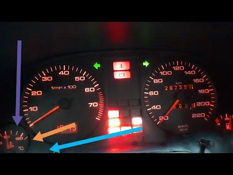 Audi 80 Ремонт  приборной панели, не показывает температуру