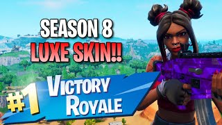 "Season 8 ""Luxe"" Skin!! 12 Elims!! - Fortnite: Battle Royale Gameplay"
