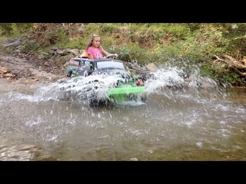 Modified Grave Digger Monster Jam Creek Attack - Modified 18 Volt Power Wheels