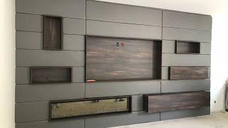 Acoustic Leather Wall in luxury home living room