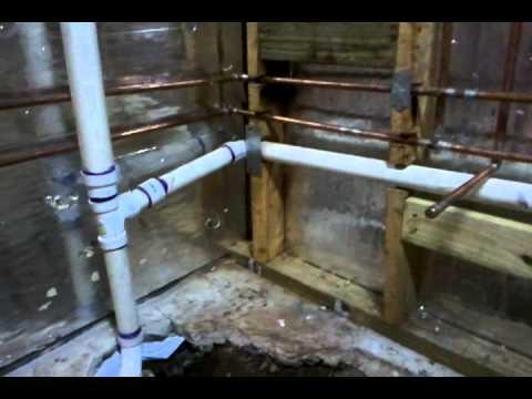 New basement bathroom plumbing