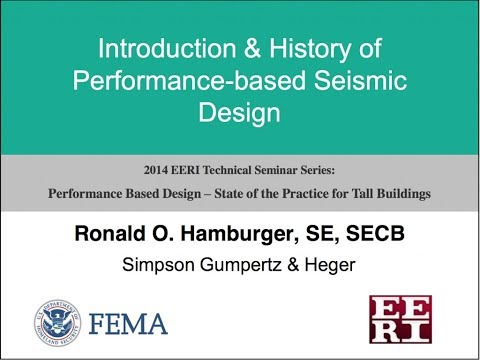 History of Performance-based Seismic Design - Performance Based Design of Tall Buildings (1 of 10)