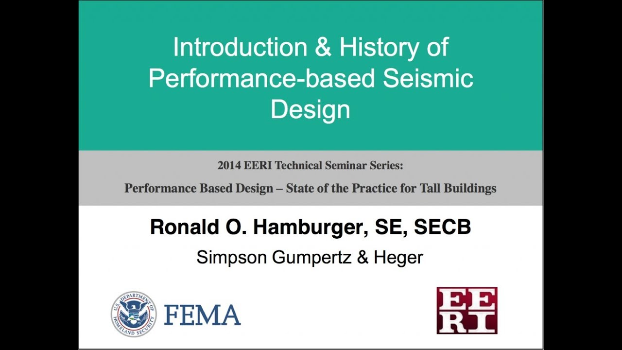 history of performance based seismic design performance based design of tall buildings 1 of 10