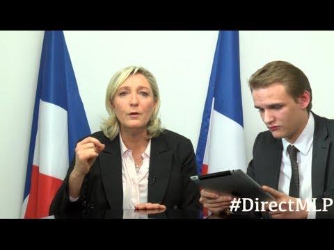 Marine s'adresse aux Français en direct sur internet (27 mars)