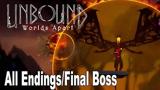 Unbound: Worlds Apart -  All Endings and Final Boss [HD 1080P]