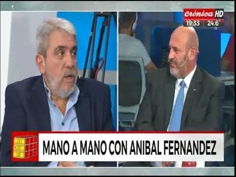 Aníbal Fernández mano a mano con Santiago Cúneo