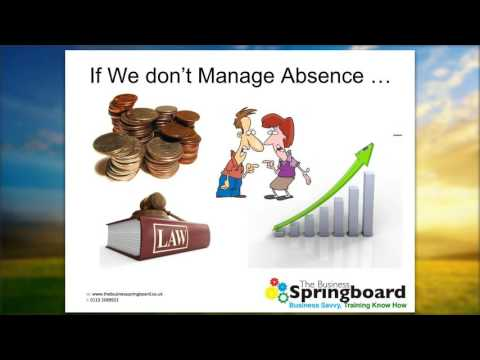 Sickness Absence - Part 3 - Thinking Ahead - Being Proactive