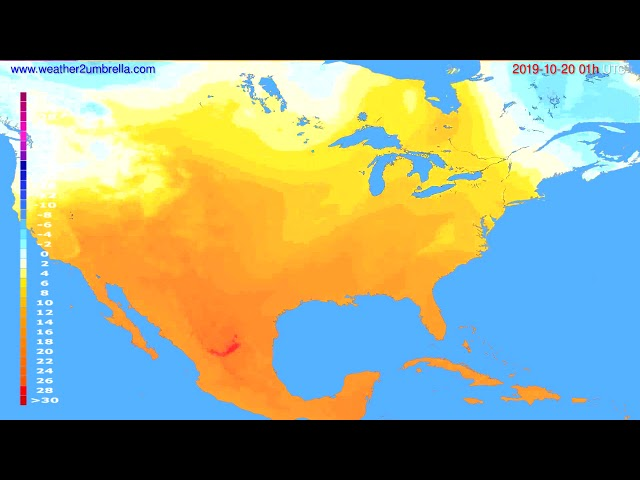 <span class='as_h2'><a href='https://webtv.eklogika.gr/' target='_blank' title='Temperature forecast USA & Canada // modelrun: 12h UTC 2019-10-18'>Temperature forecast USA & Canada // modelrun: 12h UTC 2019-10-18</a></span>