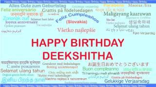Deekshitha   Languages Idiomas - Happy Birthday