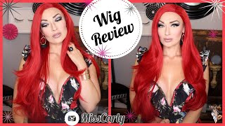✨Lace Front WIG REVIEW! ✨ Kalyss | RED | AMAZON | WOW! $38!!!