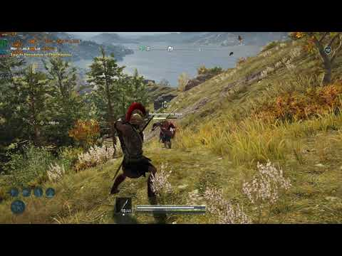 Assassin's Creed: Odyssey. Fighting a couple of mercenary's. i5 4460, RX 580  