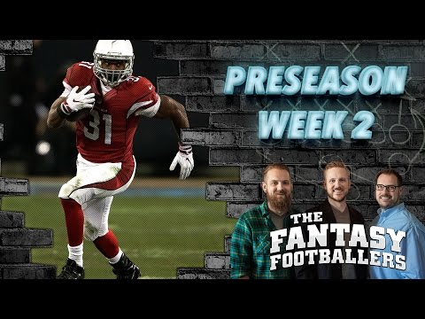 Fantasy Football 2016 - Rising Stars, Preseason Week 2, David Johnson Interview - Ep. #247