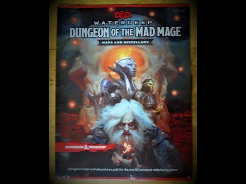 Waterdeep: Dungeon of the Mad Mage Maps and Miscellany Opening and Review