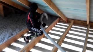 видео Дополнительное утепление перекрытия при устройстве мансарды