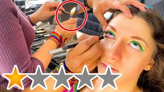 THE WORST REVIEWED MAKEUP ARTIST GIVES ME THE 2020 MAKEUP LOOK