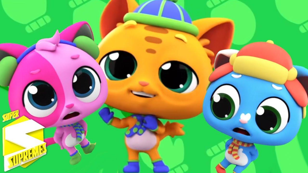 Tres gatitos | Musica para niños | Dibujos animados | Super Supremes Español | Video educativo