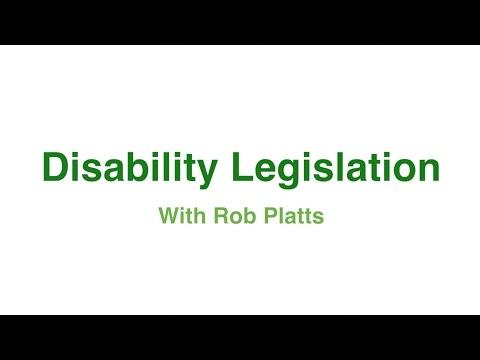 Disability Legislation with Rob Platts