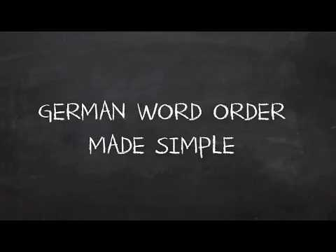 German Word Order? Nothing Easier Than That!