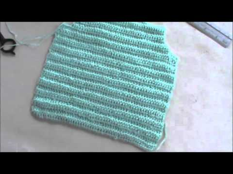 Chaleco Para Bebe De 0-2 Meses en Crochet - YouTube