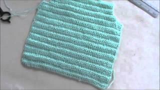 chaleco para bebe de 0 2 meses en crochet