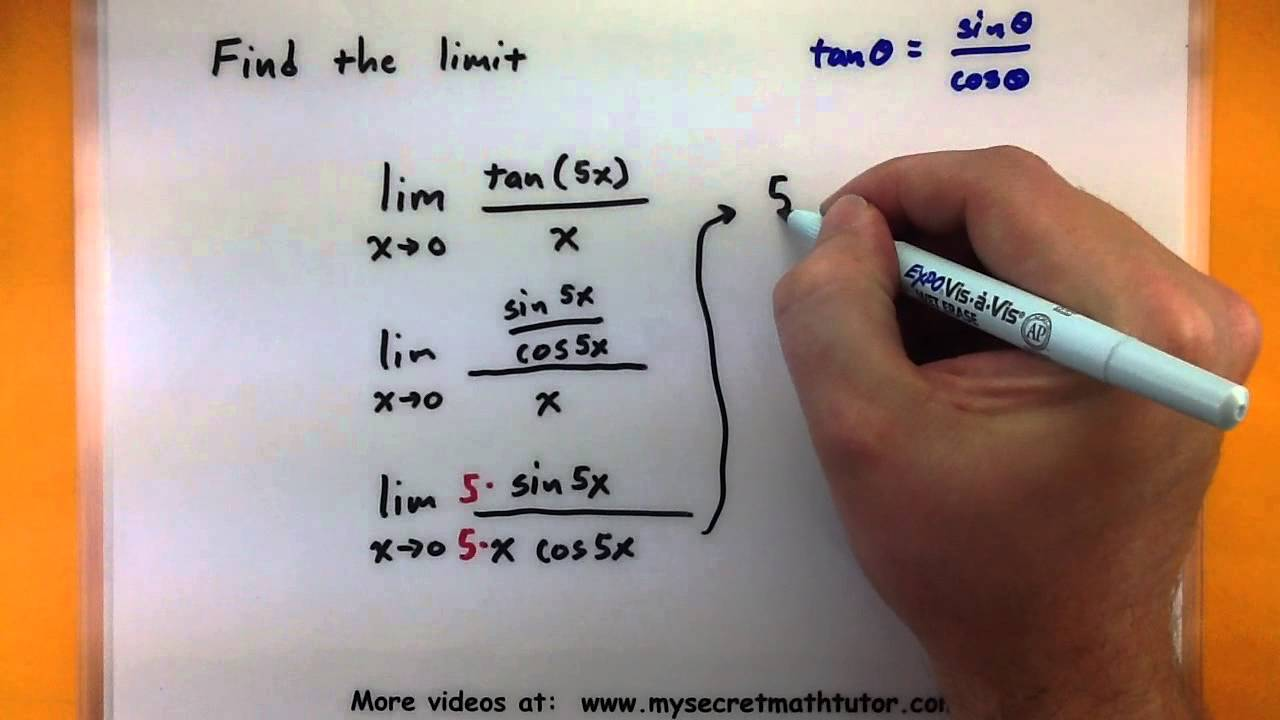 Calculus How to find trigonometric limits using sinxx YouTube – Evaluating Limits Worksheet