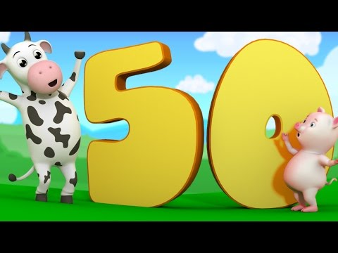 The Number Song | learn Numbers 1 to 50 | Nursery Rhymes | Kids Song | Baby Rhymes by Farmees S02E20