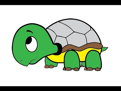How To Draw A Cute Turtle Easy Step By Step Kak Narisovat Cherepashku Youtube