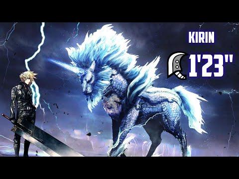 """[Monster Hunter World] 8☆ Lightning Strikes Twice - Kirin - 1'23"""" - Greatsword thumbnail"""