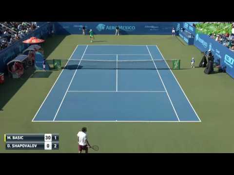 Mirza Basic vs Denis Shapovalov  FULL MATCH Guadalajara Challenger 2017