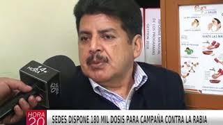 SEDES DISPONE 180 MIL DOSIS PARA CAMPAÑA CONTRA LA RABIA