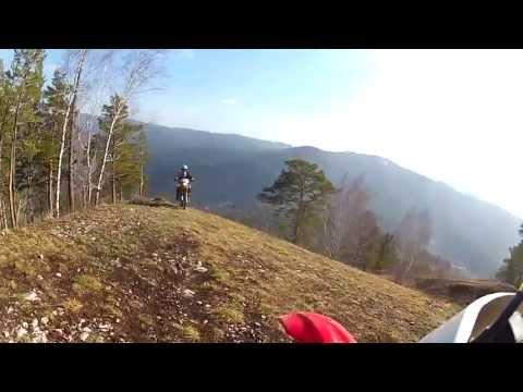 Первый эндуро, выезд по Красноярской горе (Honda XR250R, CRF250X)